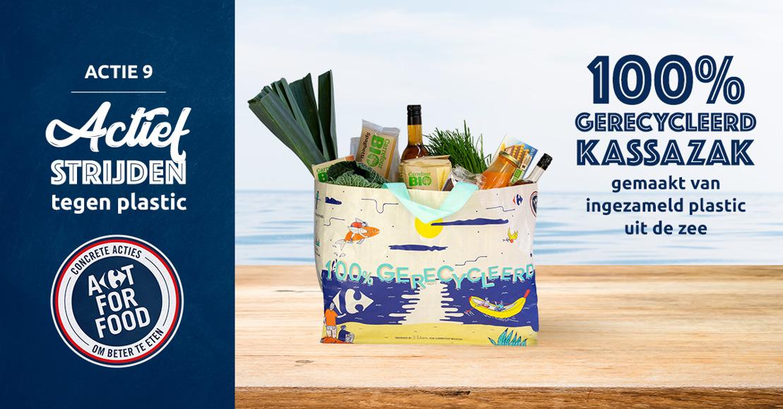 Nieuw bij Carrefour: de ocean bags van zeeafval