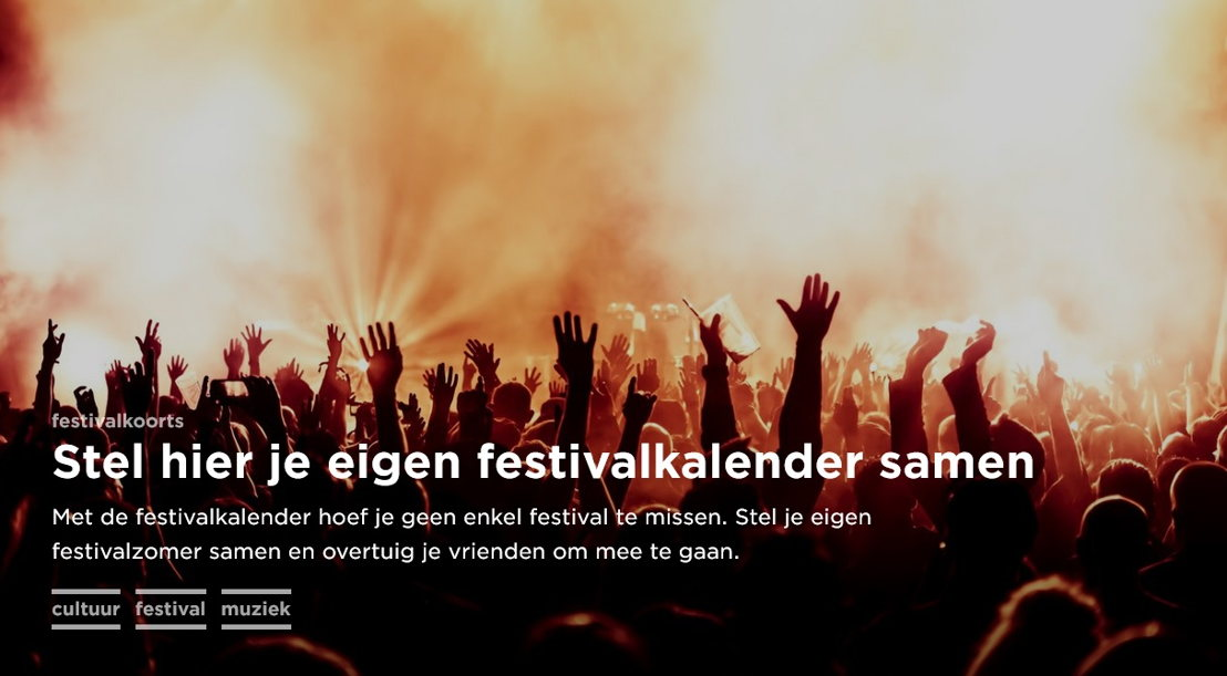 De festivalkalender van canvas.be