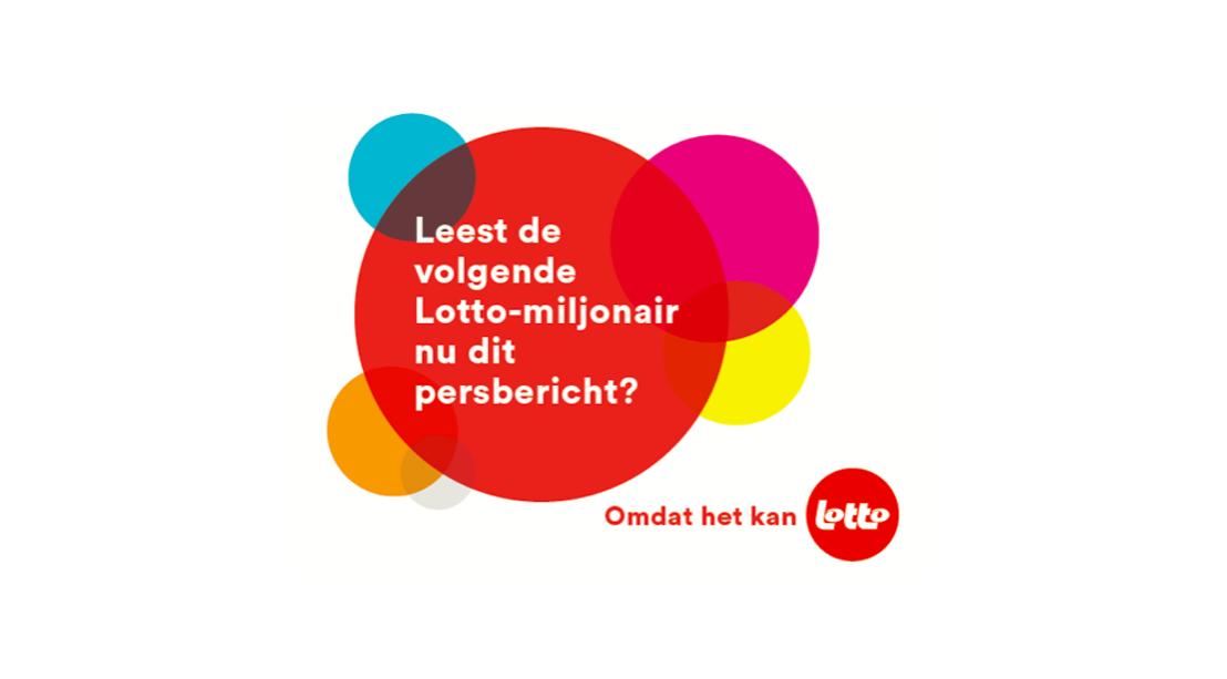 mortierbrigade stelt het nieuwe Lotto-verhaal voor. Omdat het kan.