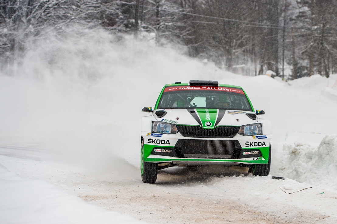 Rally Sweden: ŠKODA Motorsport fighting for victory with Pontus Tidemand and O.C. Veiby