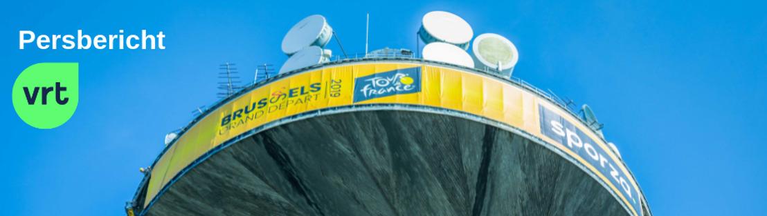 VRT-toren kleurt geel voor Eddy Merckx en de Ronde van Frankrijk