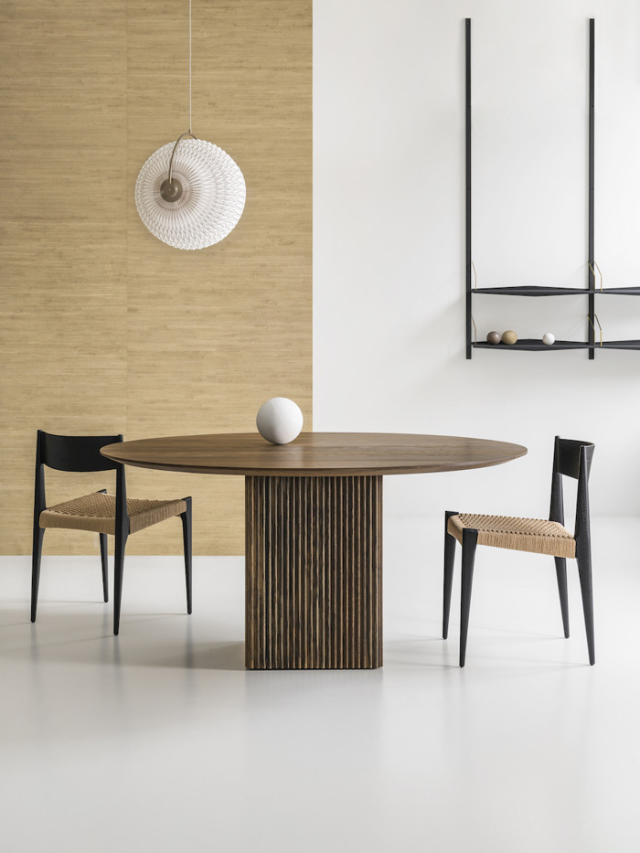dk3 Ten Table round in smoked oak arrives at Great Dane