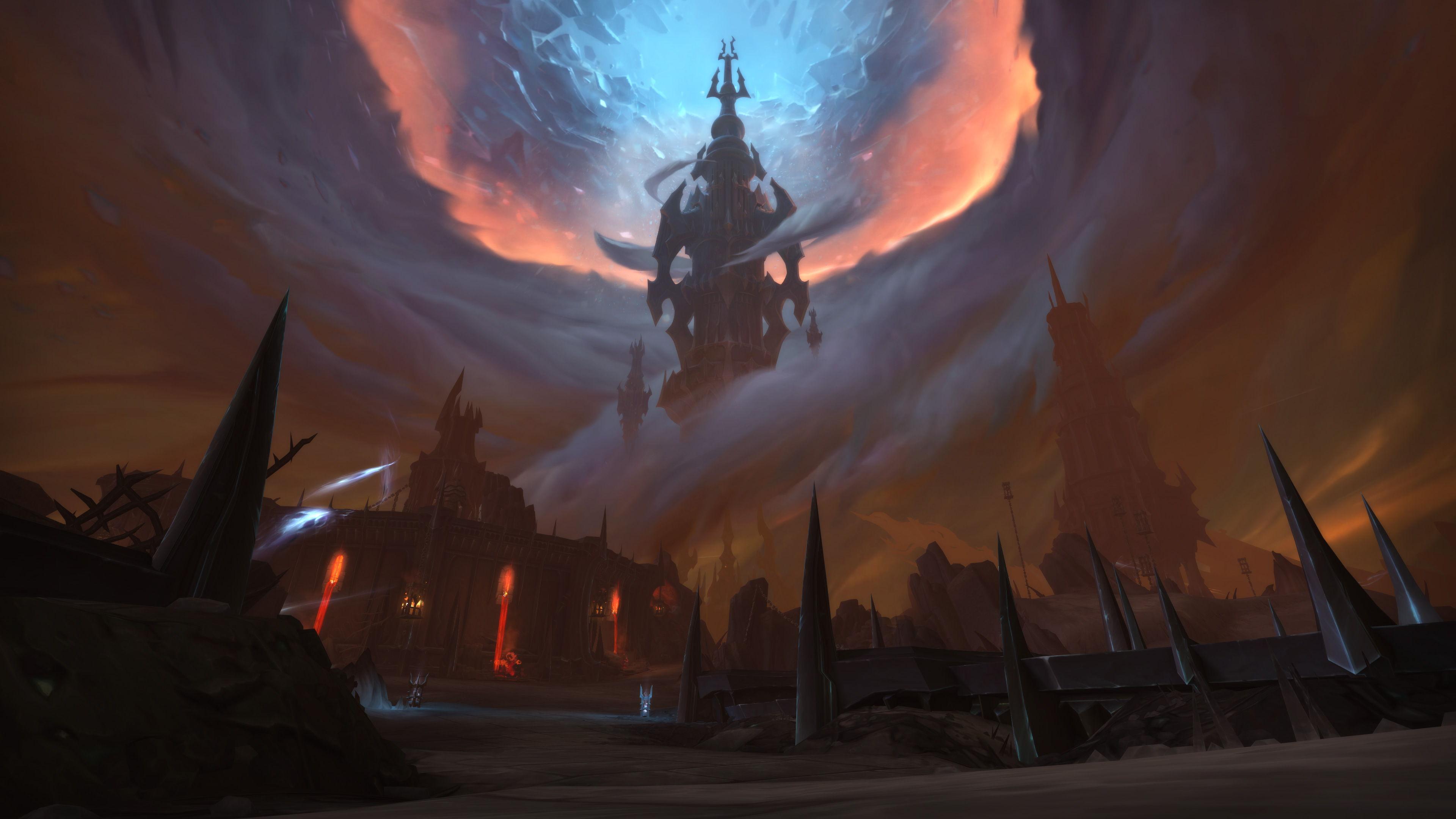 Dans World of Warcraft: Shadowlands, les joueurs partent à l'aventure en Ombreterre.