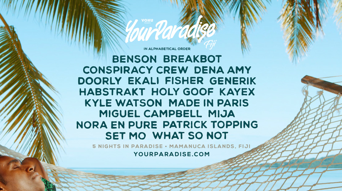 Your Paradise Fiji Releases Lineup for December 7-13th 2018 Event