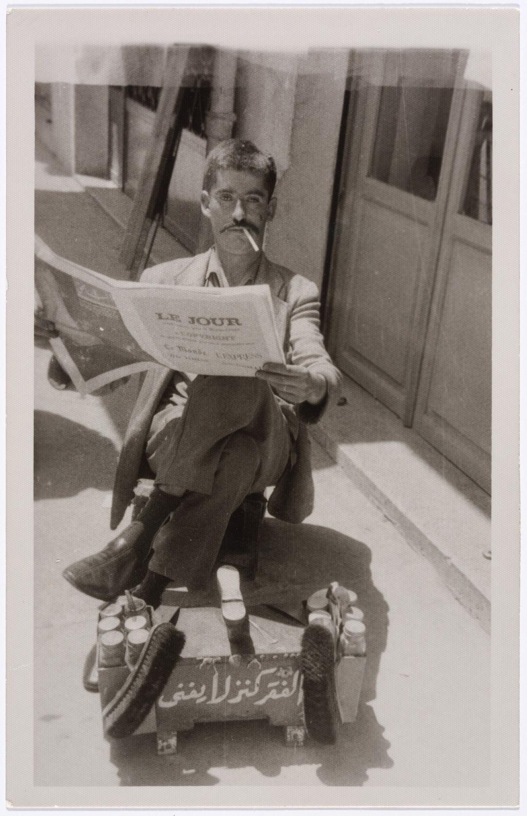 Portrait de rue, Mohammad Arabi, Tripoli, Liban, 1950-1960. Tirage gélatino-argentique. Collection FAI reproduite avec l'autorisation de la Fondation arabe pour l'image.