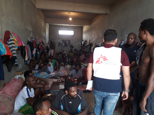 MSF: Stop arbitrary detention of refugees and migrants disembarked in Libya