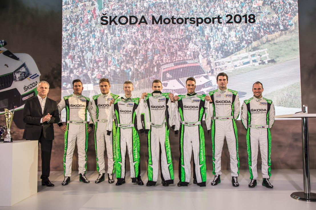 ŠKODA Motorsport's driver squad for the 2018 season is one of the youngest ever in the World Rally Championship.