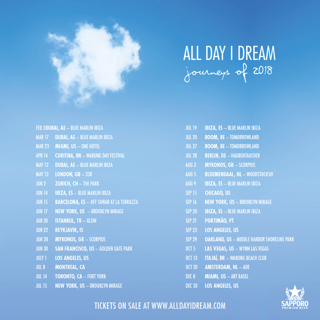 All Day I Dream Announces 2018 World Tour
