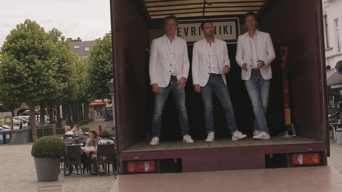 6. De hoofdrol spelen in de nieuwe videoclip van De Romeo&#039;s<br/>Sorry voor alles (c) VRT