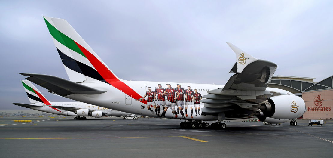 Emirates Aircraft with AC Milan Livery.