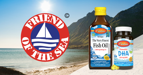 Carlson Achieves Sustainability Certification for Omega-3 Products