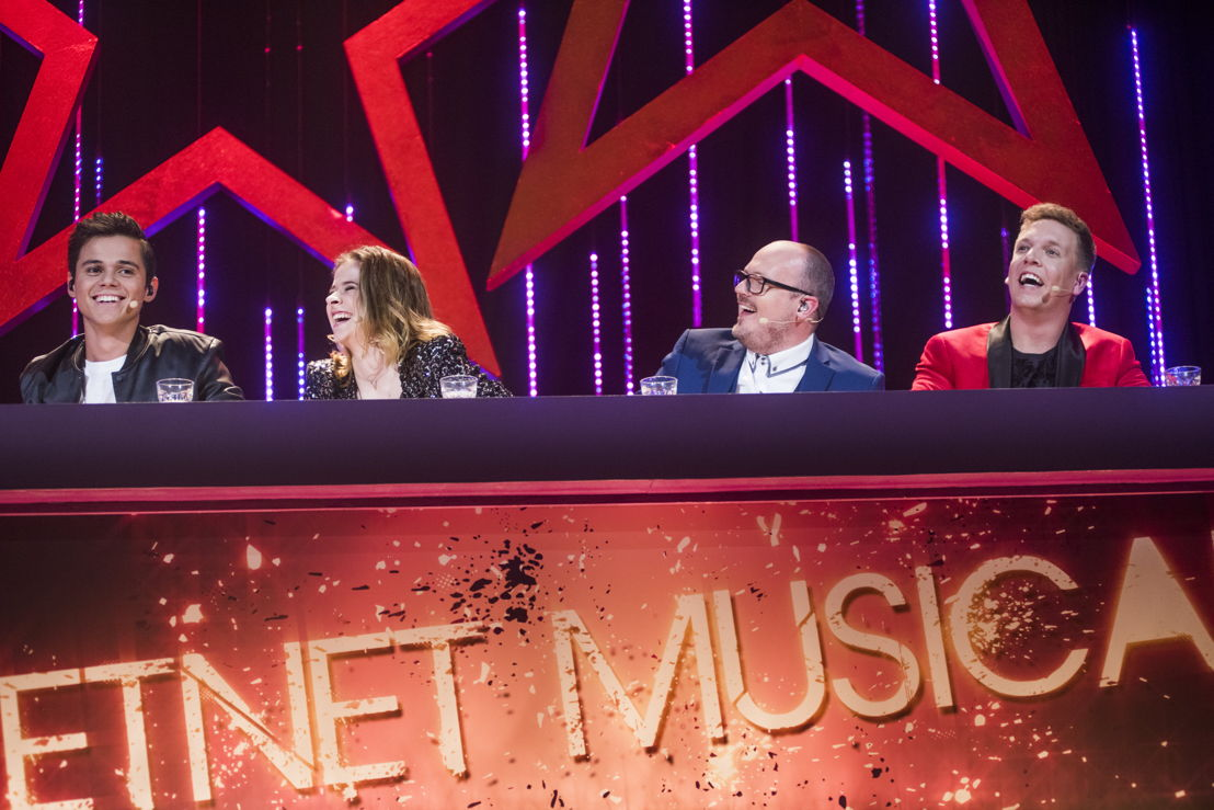 Ketnet Musical - jury - Giovanni Kemper/Laura Tesoro/Tijl Dauwe/James Cooke - (c)VRT/Alex Vanhee