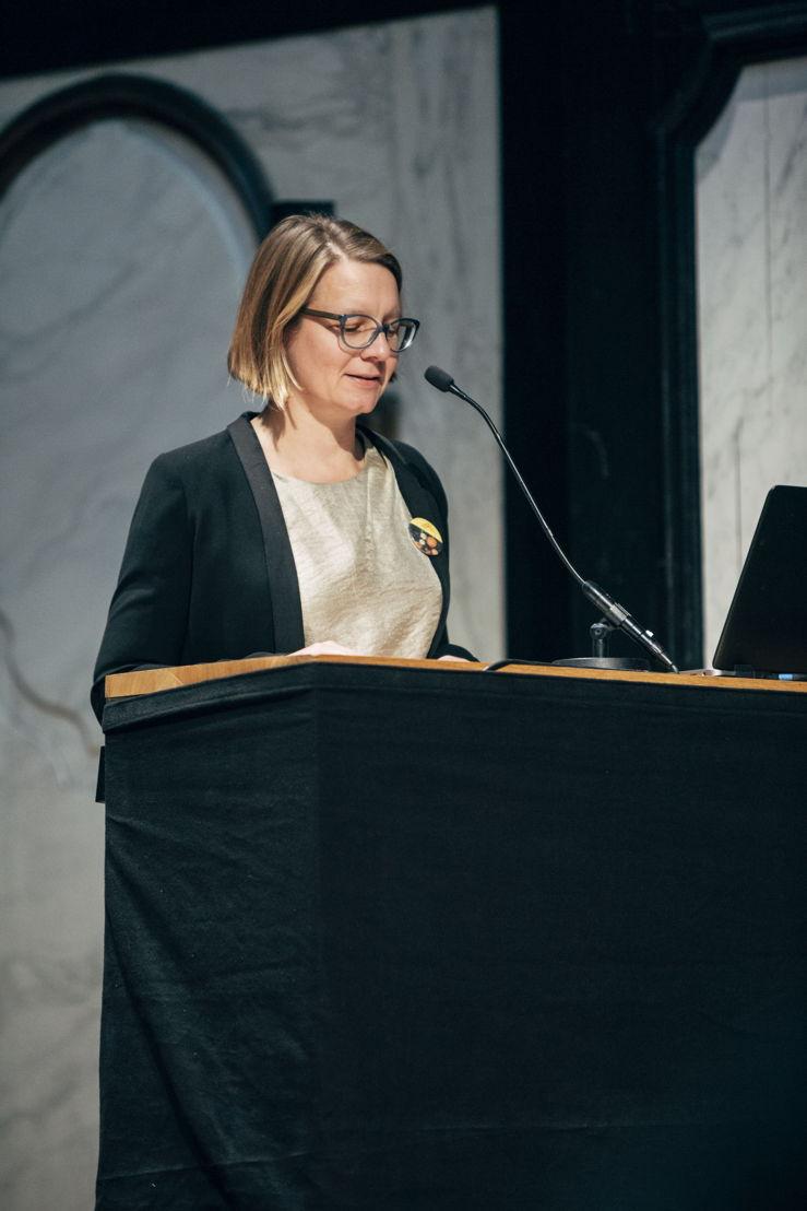 Voorstelling evenementen kunstensector 'Antwerp Baroque 2018. Rubens Inspires'. Karen Vandenberghe, projectcoördinator. foto Joris Casaer