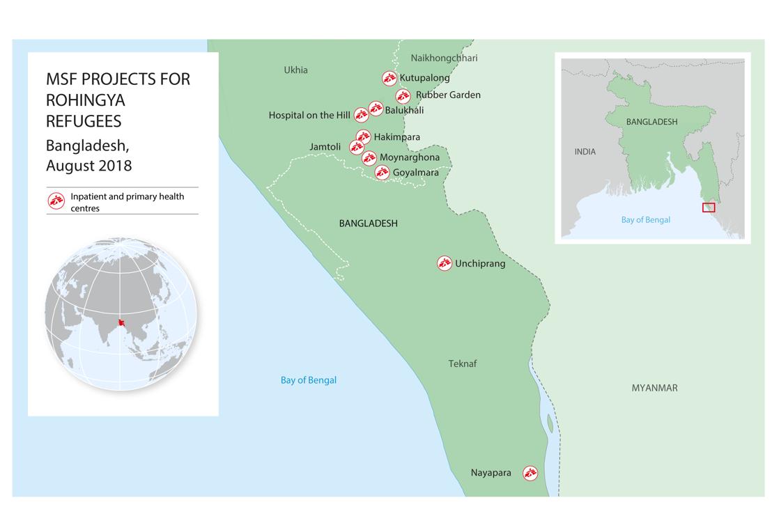 AZG projecten in en rond het vluchtelingenkamp
