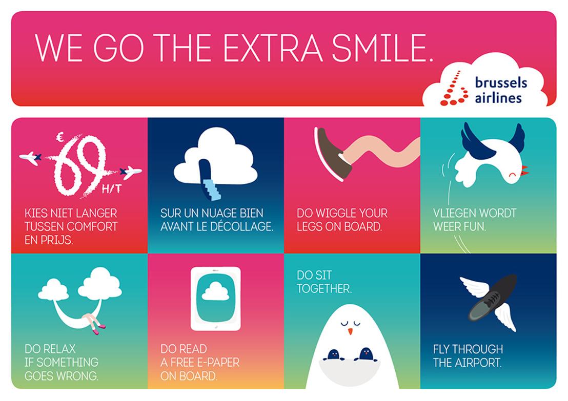 Brussels Airlines, de nouvelles campagnes, de nouvelles couleurs, une nouvelle signature et de nouveaux produits