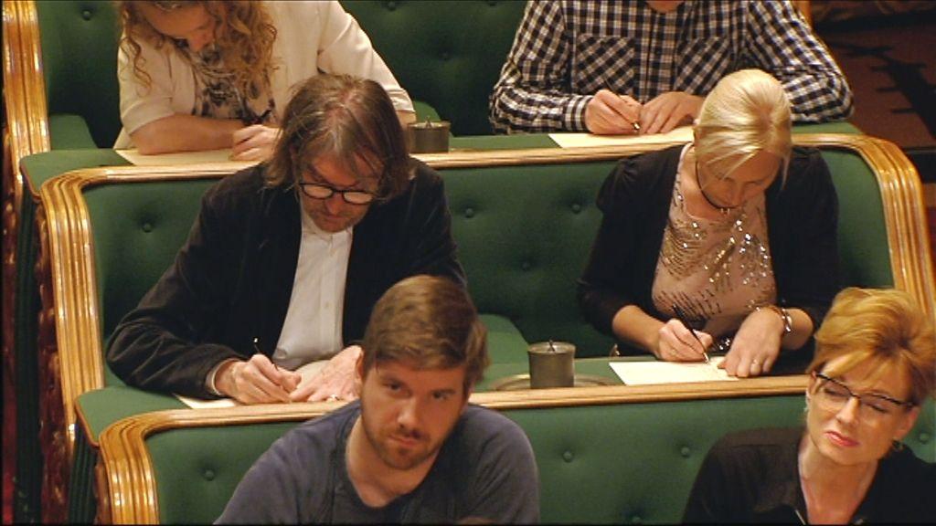 Het Groot Dictee - Bart Cannaerts en Marleen Merckx - (c) Men at work / VRT