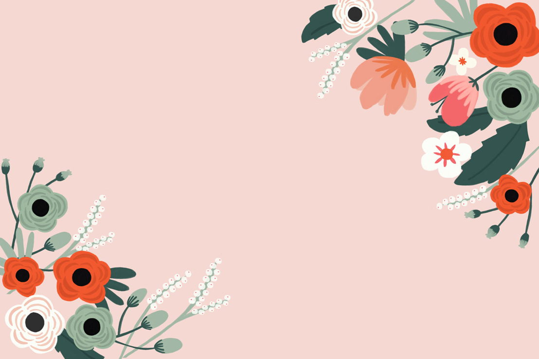 Anemone Floral Wall Mural