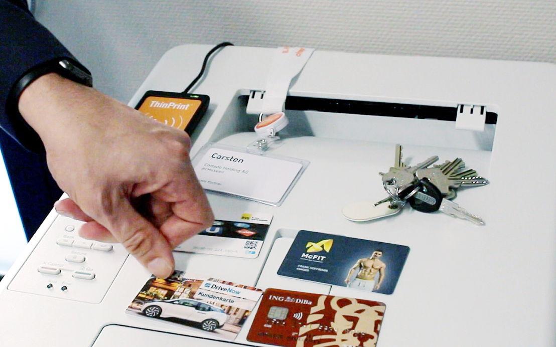 Die Registrierung für Personal Printing funktioniert mit jeder Smartcard oder anderen Transpondern, wie z.B. Tokens.