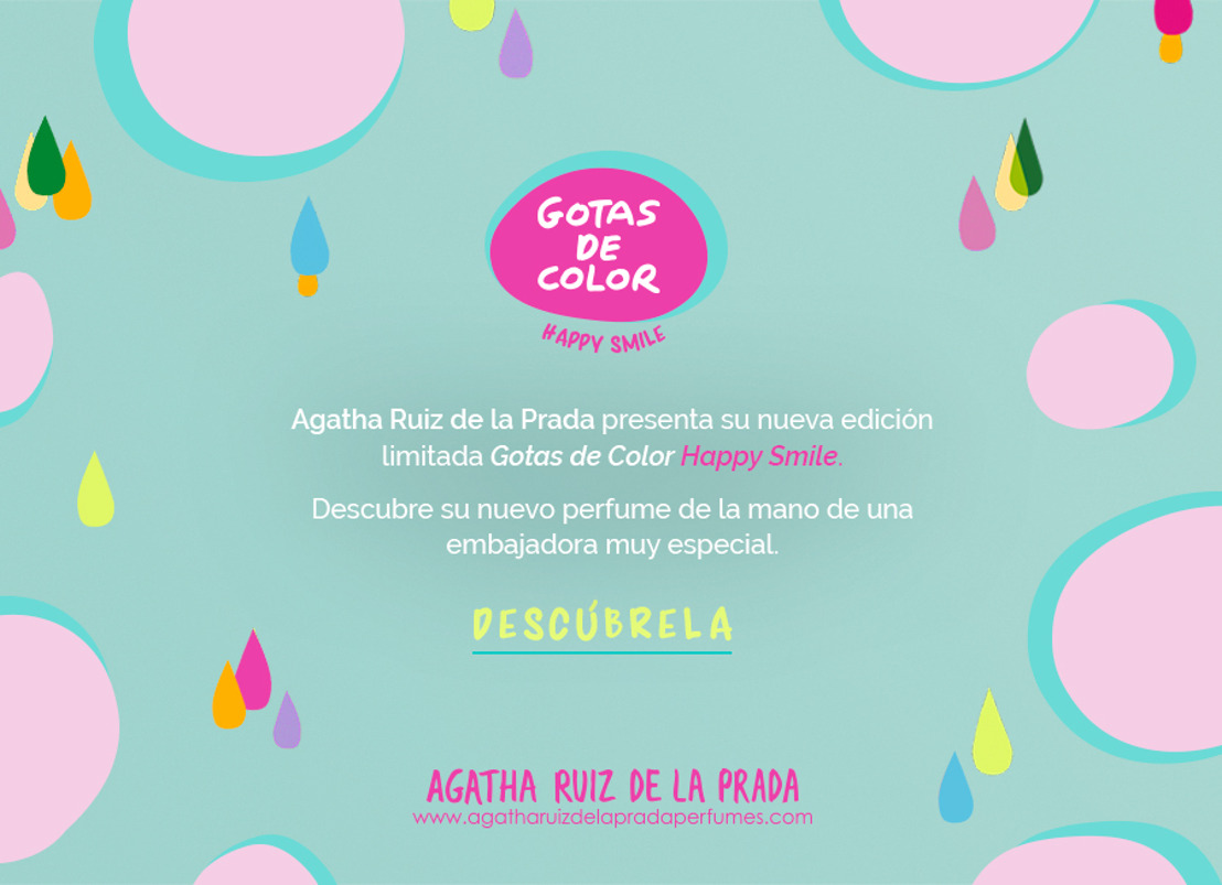 AGATHA RUIZ DE LA PRADA - GOTAS DE COLOR HAPPY SMILE