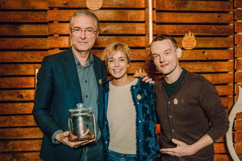 Jan Hautekiet, Britt Van Marsenille en Tom De Cock © VRT