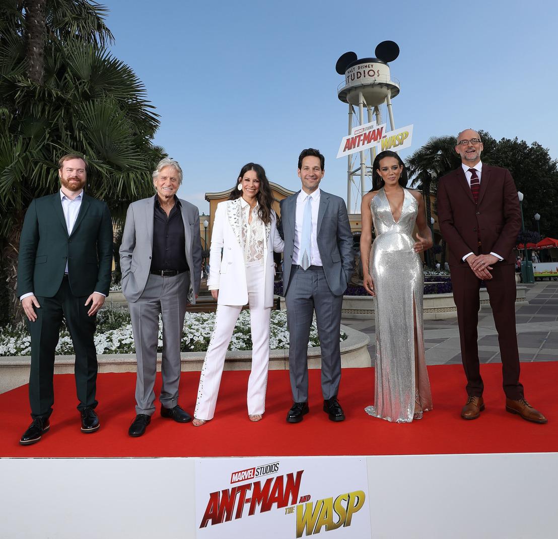 Une surprise de taille a présence de l'équipe du film Ant-Man Et La Guêpe a DISNEYLAND PARIS LORS DE L'AVANT-PREMIERE EUROPÉENNE