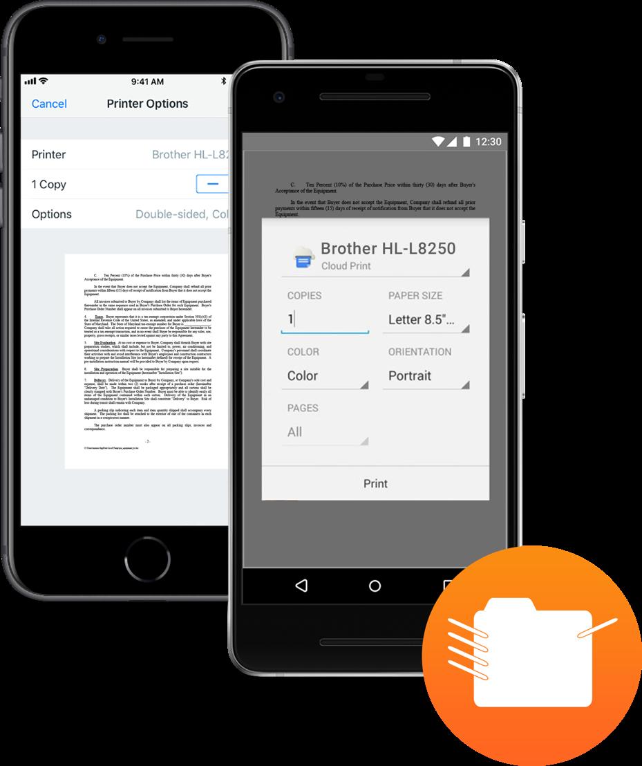 Natives iOS- und Android-Drucken auf alle Unternehmensdrucker