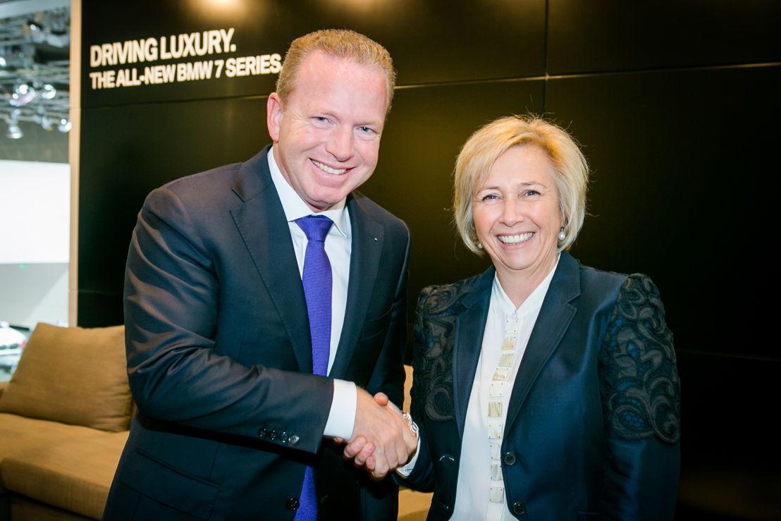 Jean-Philippe Parain (BMW) & Helen Willems (Miele)
