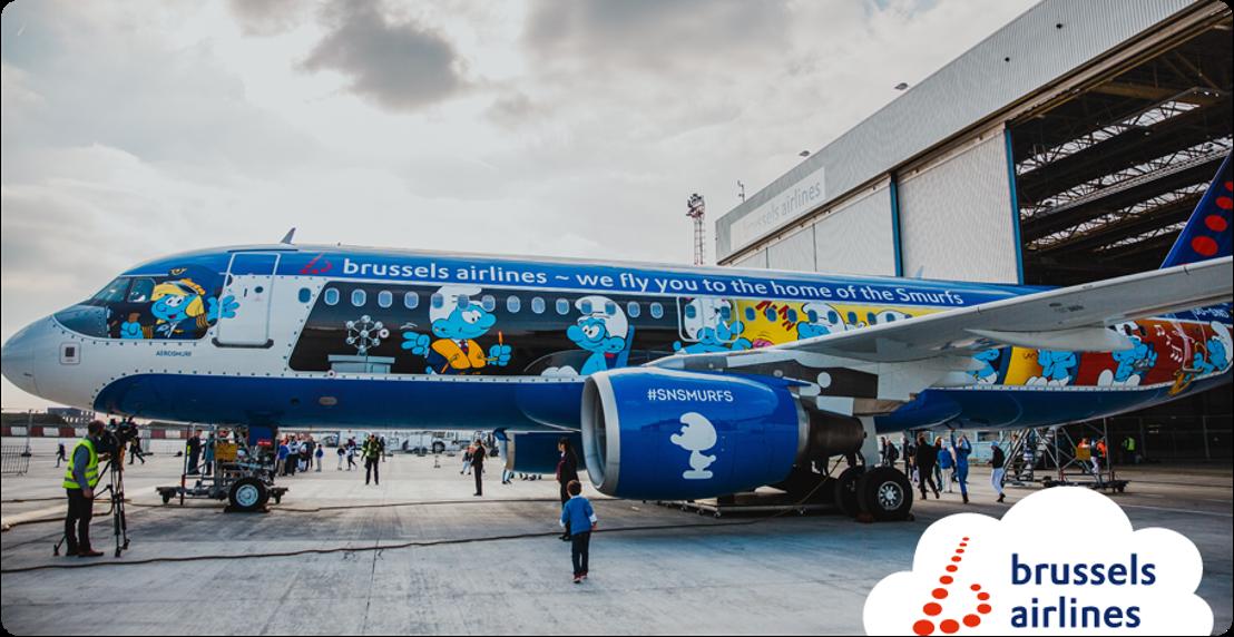 Brussels Airlines révèle Aerosmurf