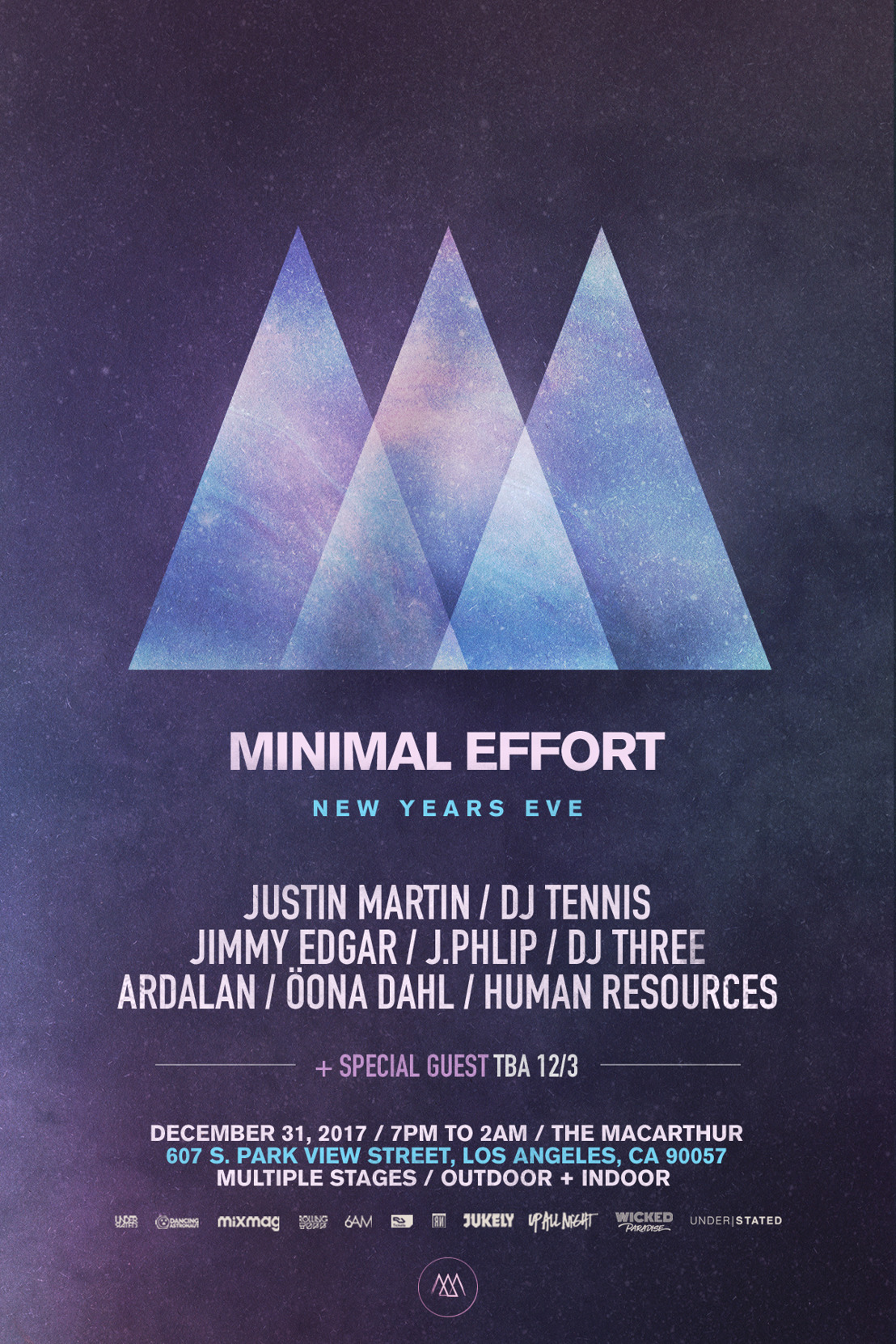 Minimal Effort Reveals Phase 1 Lineup and Location for 2017 Los Angeles New Year's Eve Event