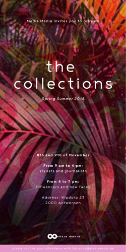 Invitation The Collections Spring-Summer 2018