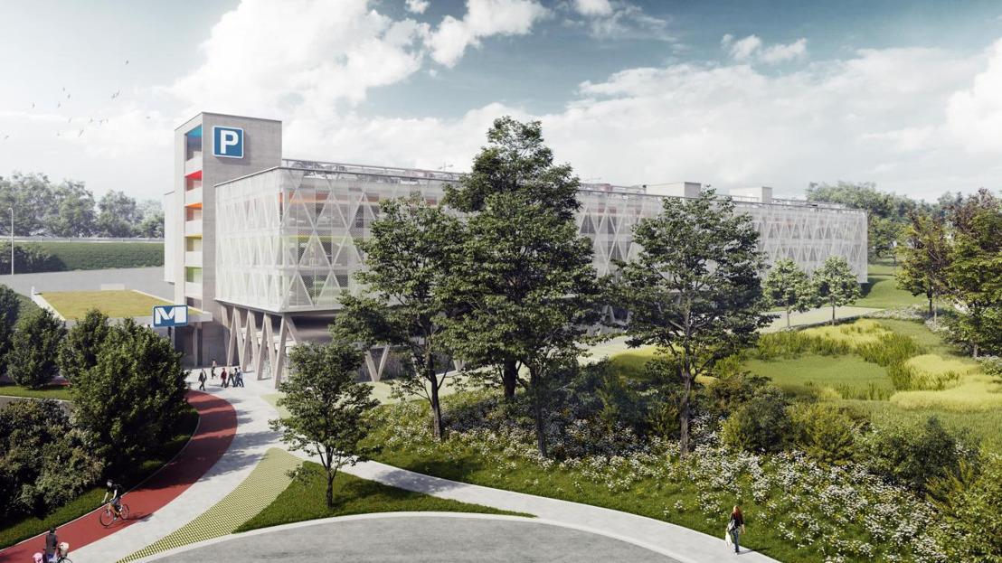 34 laadpalen en 720 zonnepanelen op parking CERIA in Anderlecht van Effia