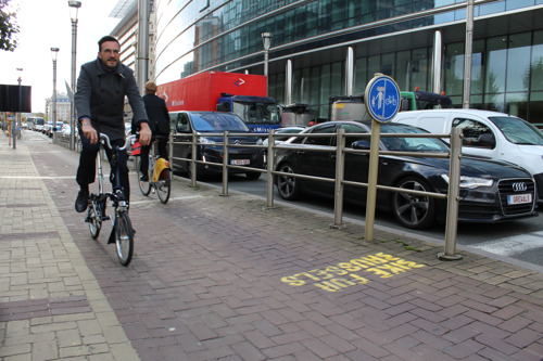 Siemens and BESIX supply the first bicycle counter pole in Brussels