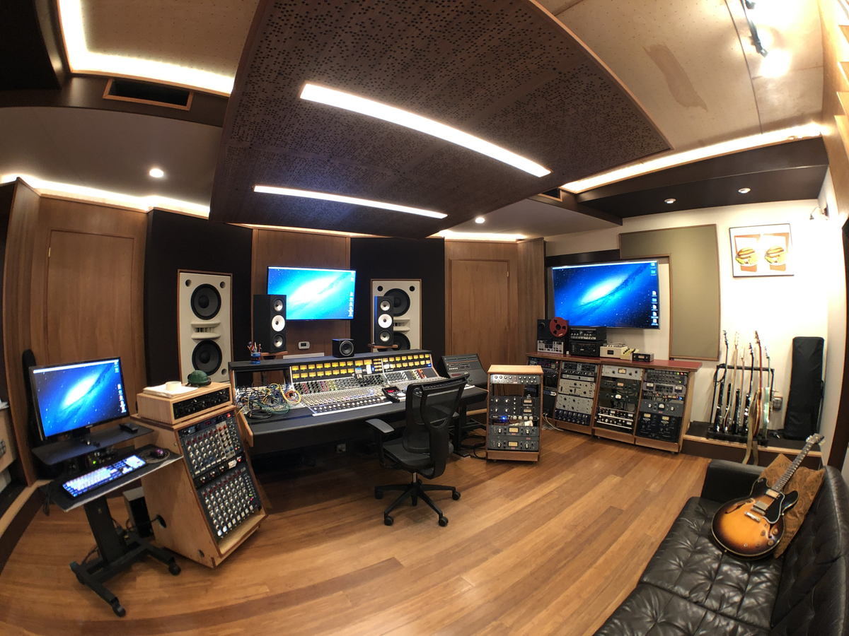 Mad Oak Studios Control Room, a fish-eye view
