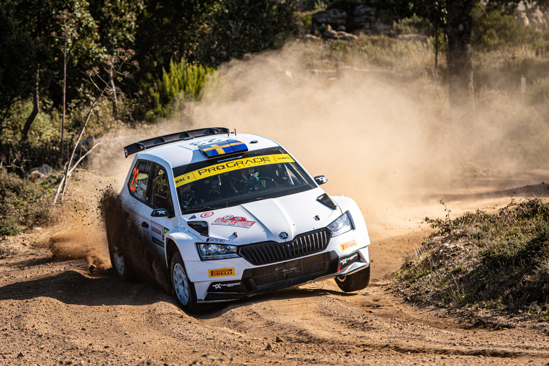 Rally Italia Sardegna: ŠKODA privateer Pontus Tidemand wins WRC2 and extends overall lead