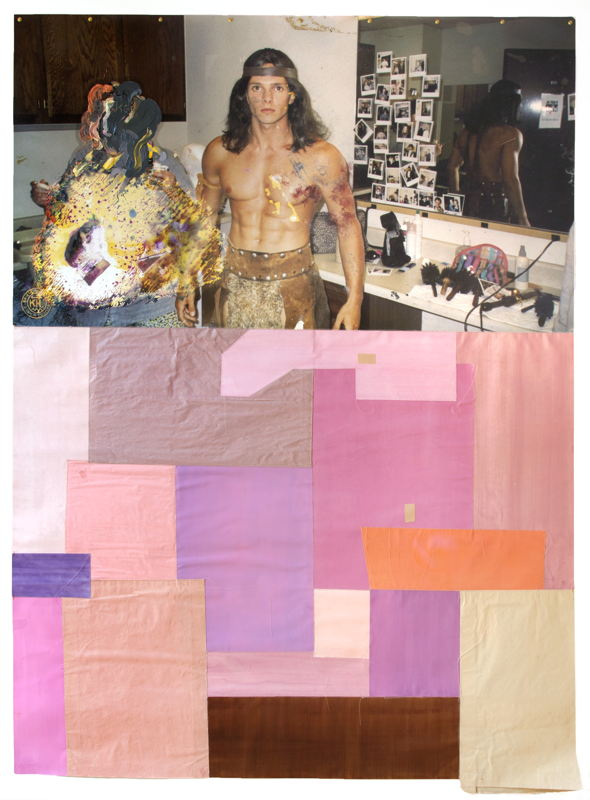 KATI HECK, Brief an B., 2017. Collage, photograph, oil on baryta paper,water color on paper, artist<br/>frame. Courtesy Tim Van Laere Gallery, Antwerp.