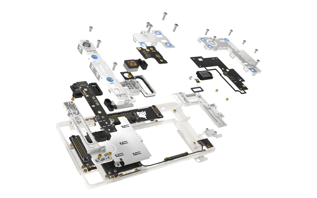 Fairphone exploded view 2