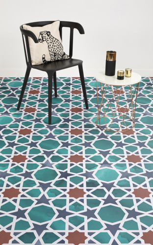 These Watercolour Floor Designs Feature Traditional Islamic Geometry Techniques