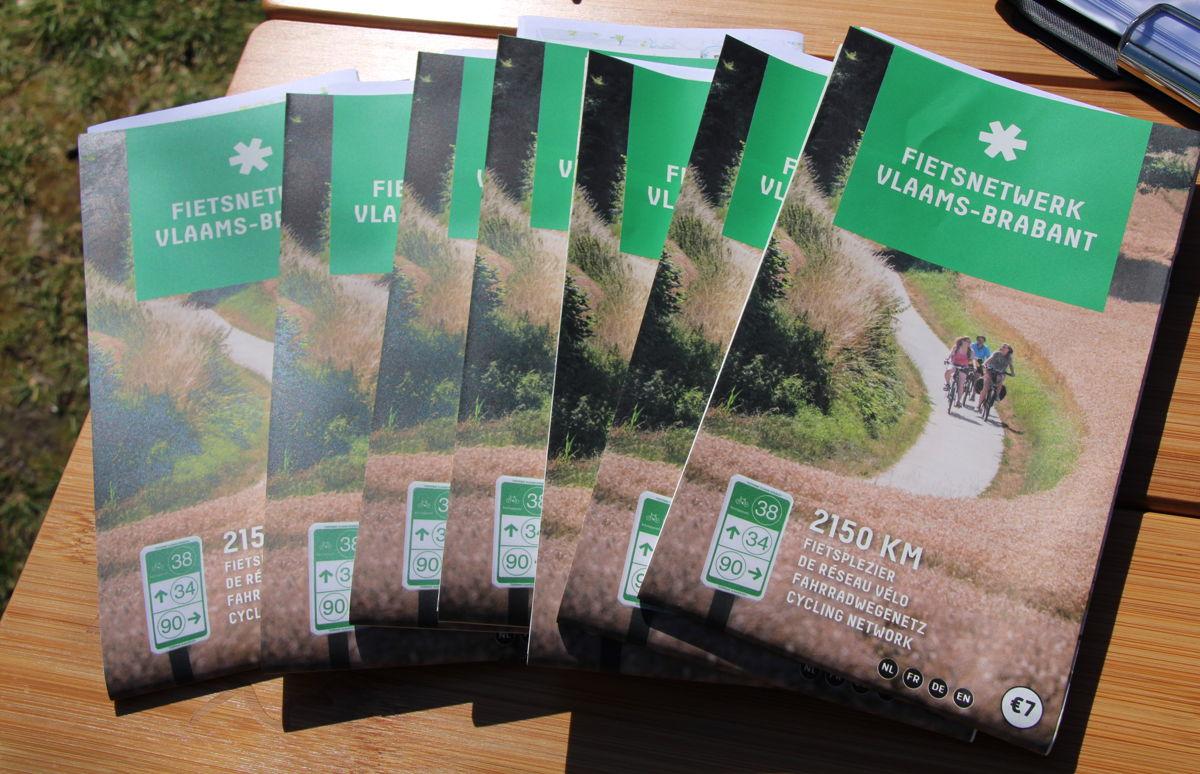 Foto: de nieuwe fietskaart van Vlaams-Brabant