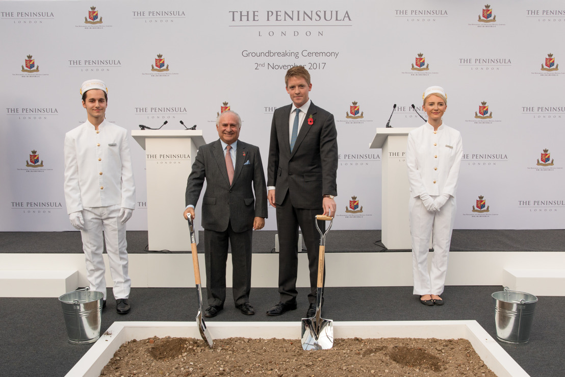 THE HONGKONG AND SHANGHAI HOTELS ANUNCIA LA CEREMONIA DE COLOCACIÓN DE LA PRIMERA PIEDRA DE THE PENINSULA LONDON