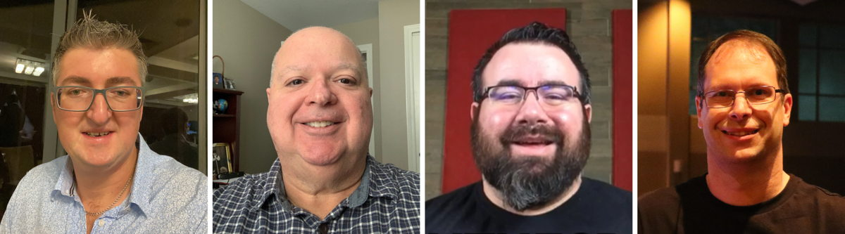 Matt Sales, Brian Gowing, Chad Kirkpatrick and Chris Huff (from left to right) will join the virtual House of Worship Roundtable on Thursday, 16 April
