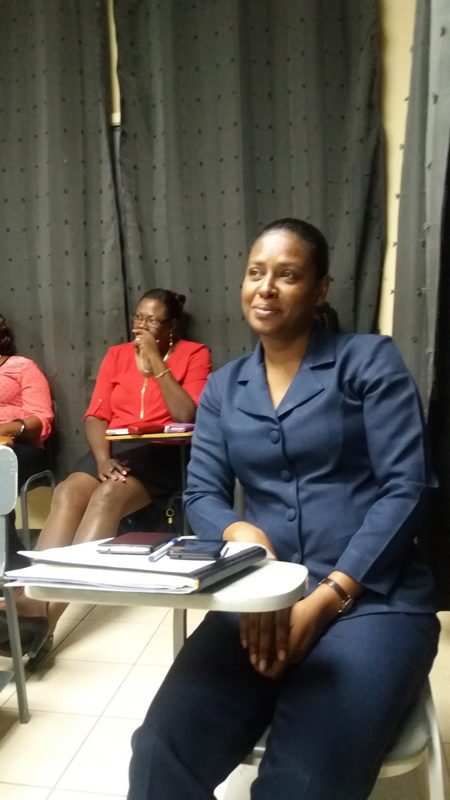 Marlene Abraham-Finlay  (in blue) - Chairperson of ECIT Task Force