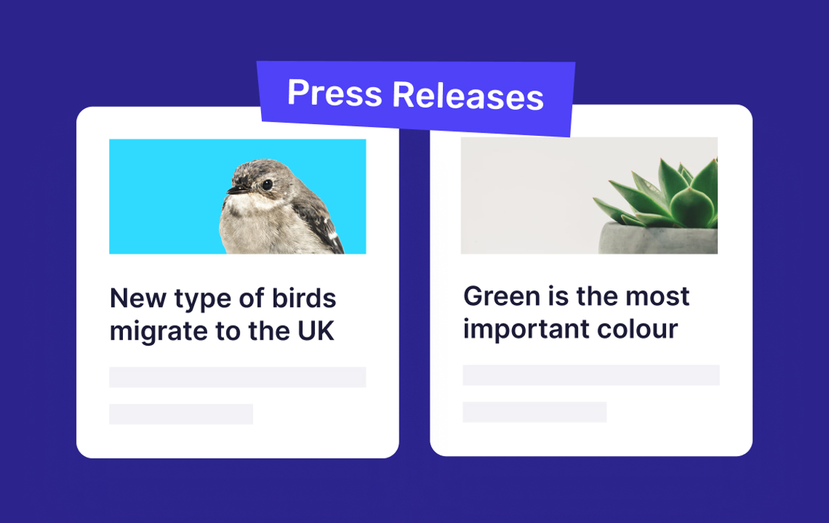 Help: Visually engaging press releases? Check!