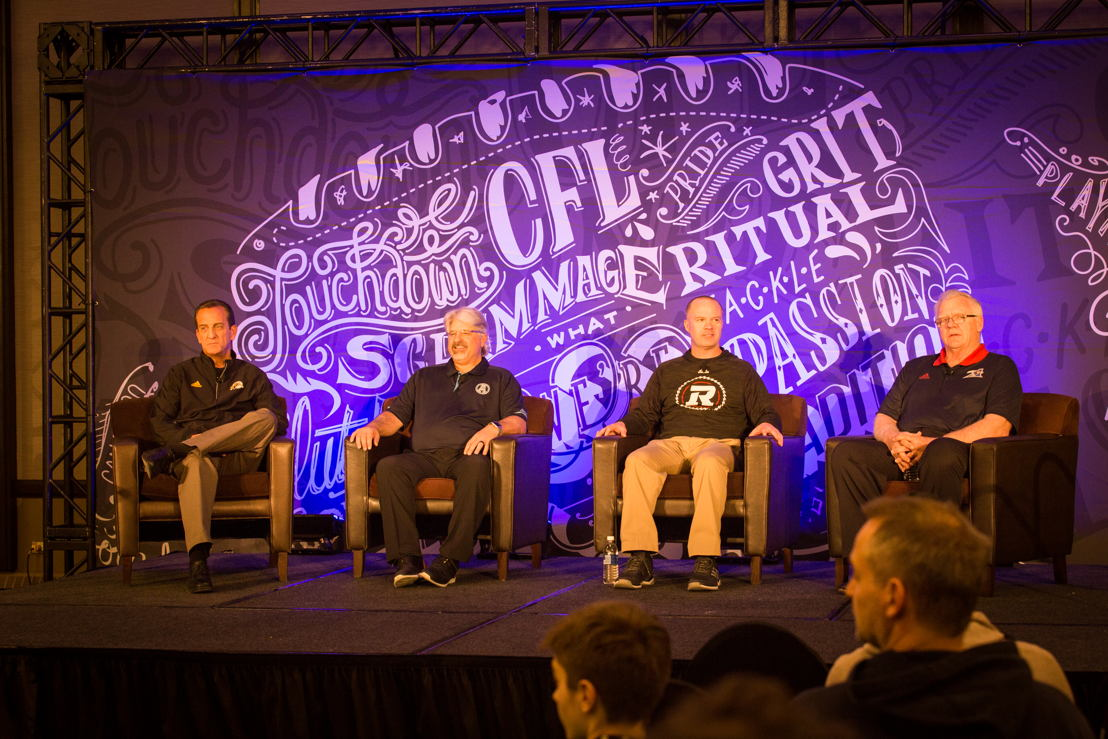 The East Division Football Operations Media Conference at Mark's CFL Week. Photo credit: CFL.ca/Reid Valmestad