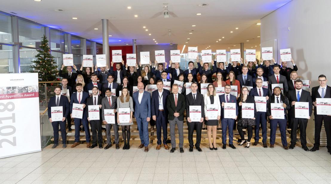 El Grupo Volkswagen reconoce a sus mejores aprendices