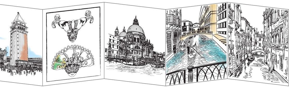 Binnenwerk 'Venetië in aquarel'