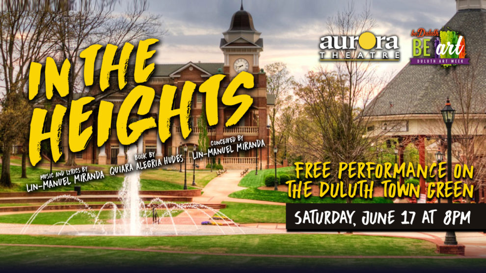 In The Heights promotional flier