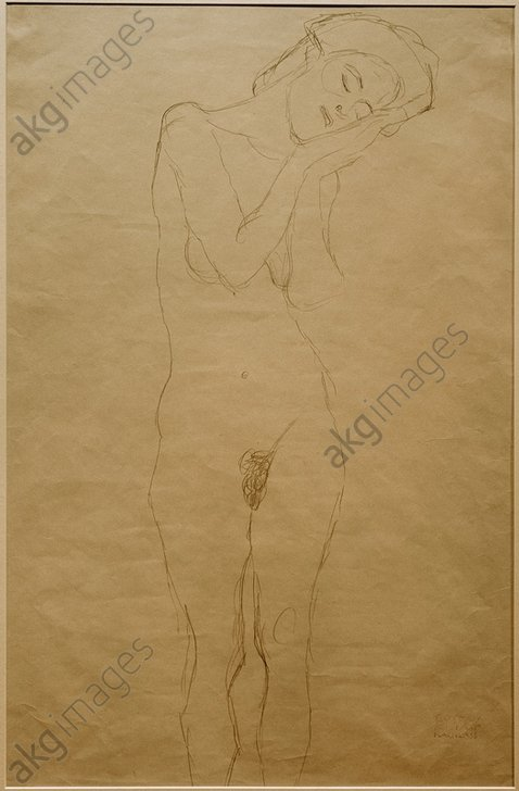 &quot;Girl with hands on the cheek&quot;, 1908/09. (Study for &quot;Death and life&quot;).<br/><br/>AKG2126279