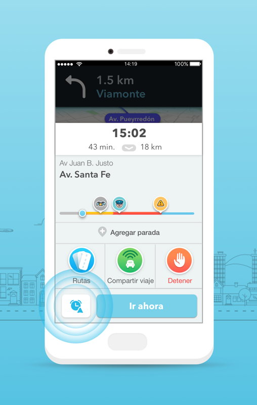 Waze Planned Drives-Paradas