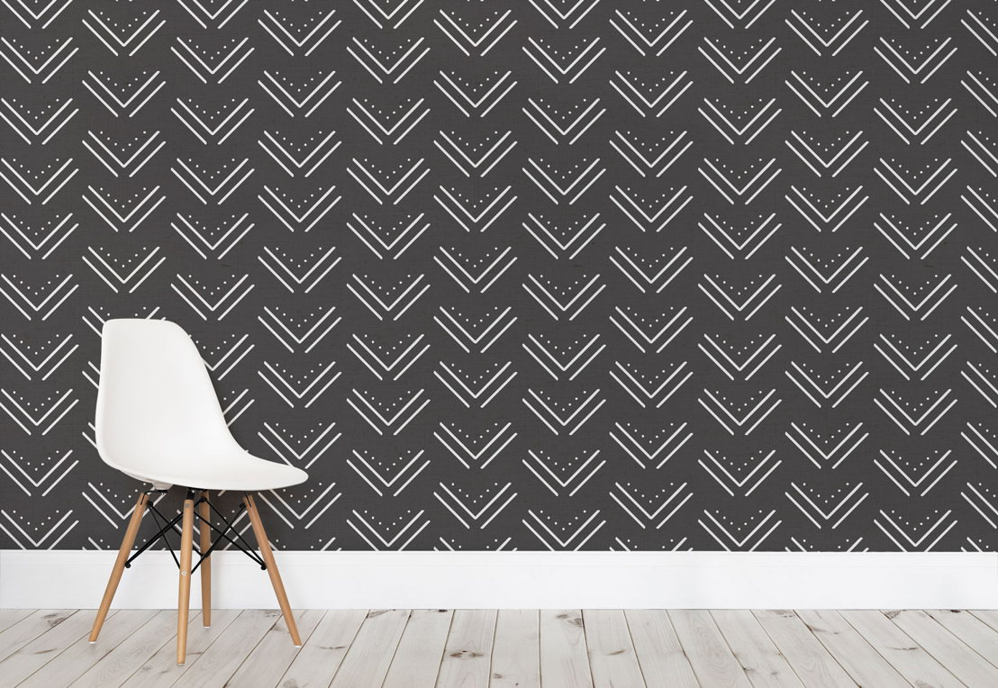 Black and White Arrow Tribal Wall Mural