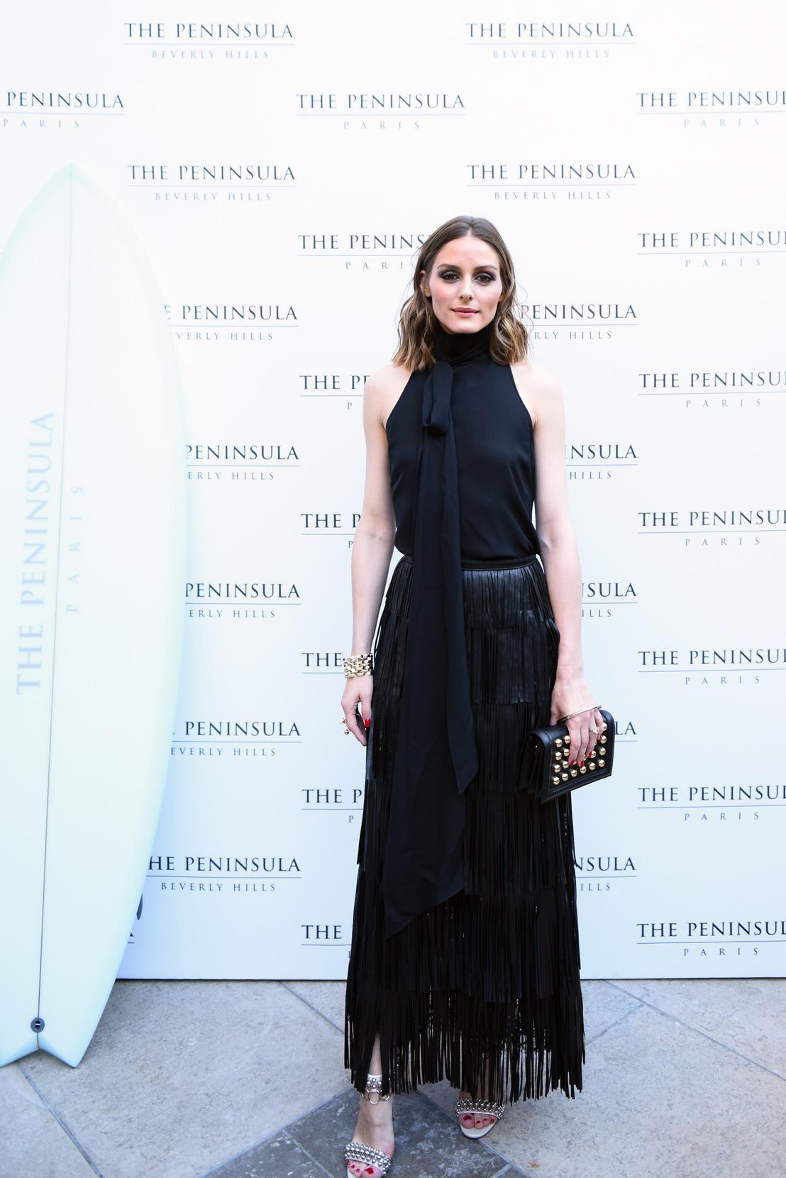 """The Peninsula Paris es sede de la fiesta de verano """"Hecho en California"""" con invitados especiales como Olivia Palermo, Johannes Huebl y Chloe Gosselin."""